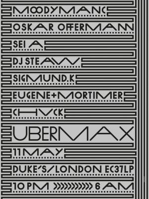 11/05/13 &#8211; Ubermax w/ Moodymanc, Oskar Offermann, &#038; more, London