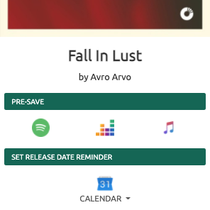 Example release date reminder - pre-save campign